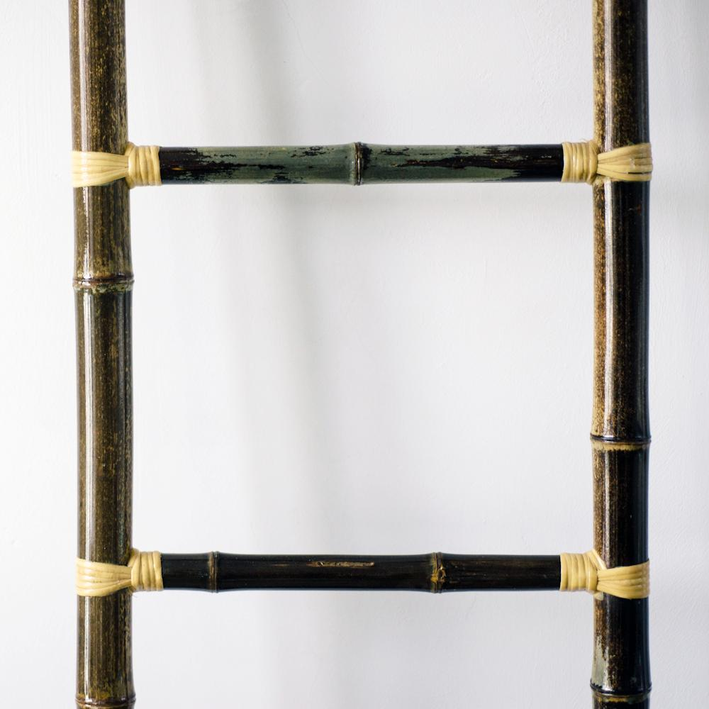 BAO Bamboo Ladder with Shelf Attachment