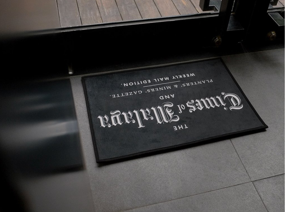 Papan Tanda Door Mat - Times of Malaya