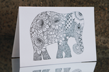 Colour In Elephant Series Card Set