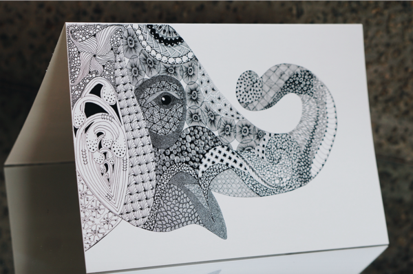 Taj Elephant Series Card Set