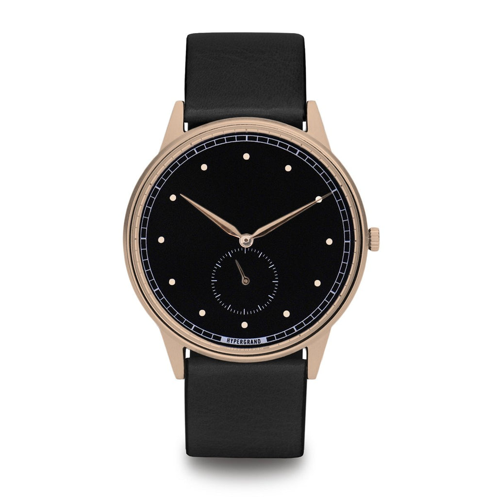 Signature Watch - Rose Gold Black w/ Black Classic Leather