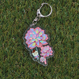 Succulent Holographic Keychains (6 Designs)