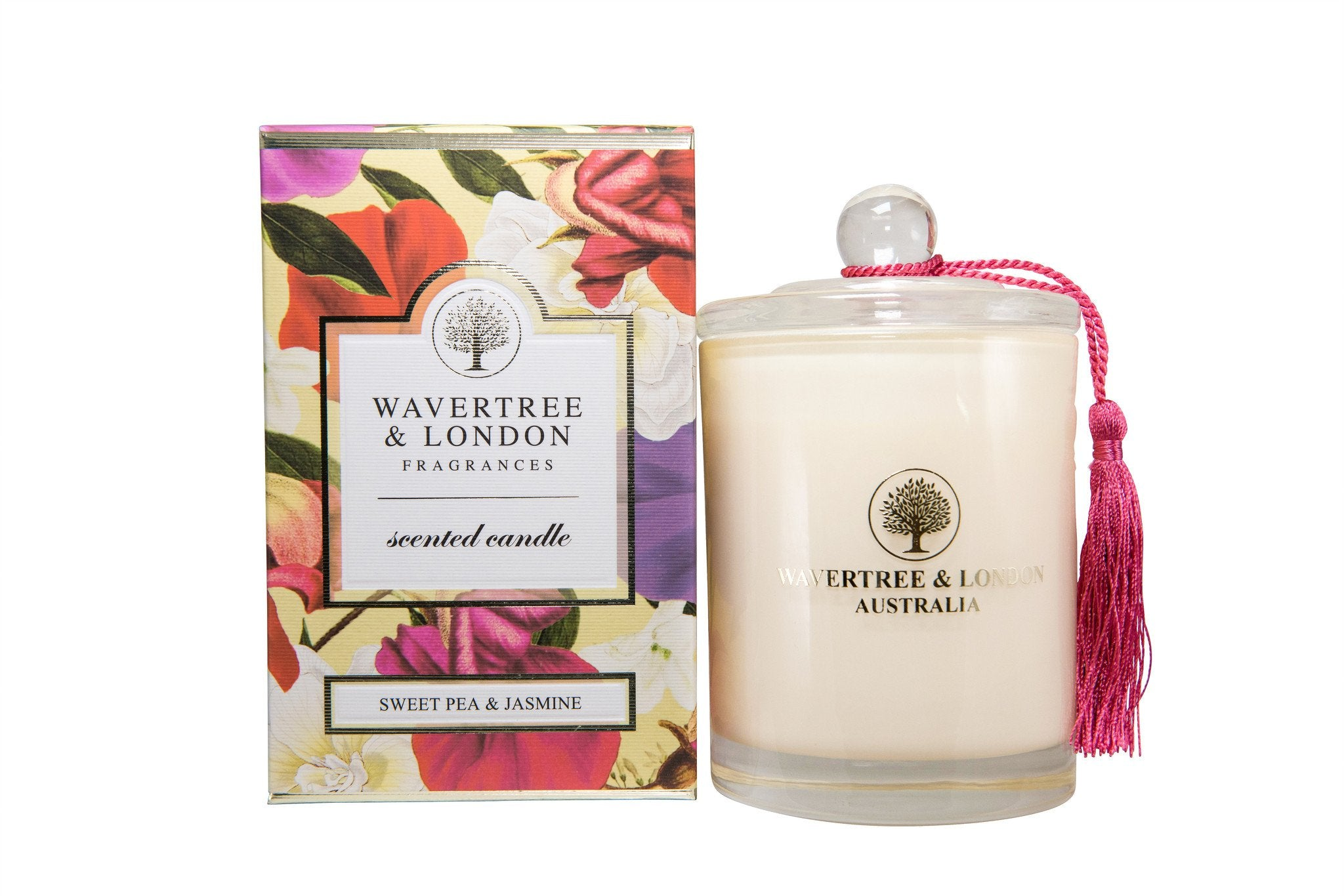 Sweet Pea and Jasmine Scented Candle