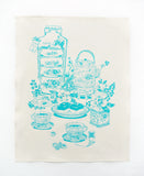 Tea Time Tea Towel - Teal