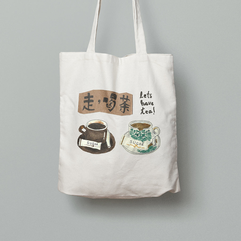 Let's Have Tea Kopitiam Tote Bag