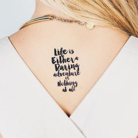 Life Is An Adventure Temporary Tattoo