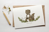 WW-GC#6 - Thank You, Squirrel Greeting Card