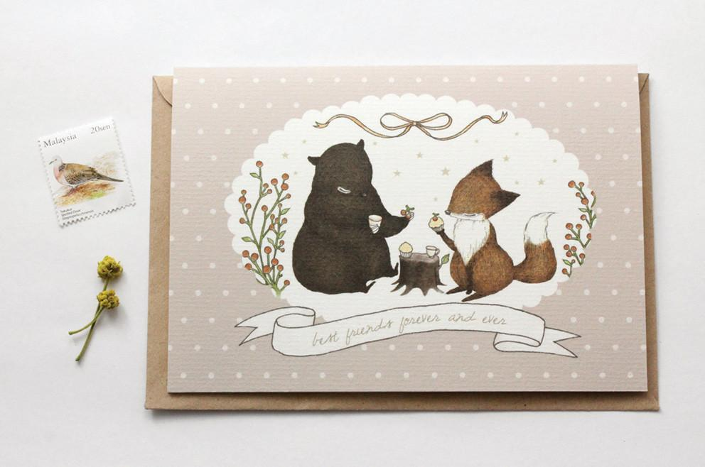 WW-GC#12 - Best Friends Forever and Ever Greeting Card