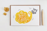 WW-GC#19 - It's Your Day Greeting Card