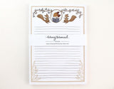 WW-NP#7 - Fox and Dancing Squirrels Notepad