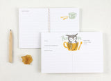 WW-RC#1 - Owl & Measuring Cup Recipe Card
