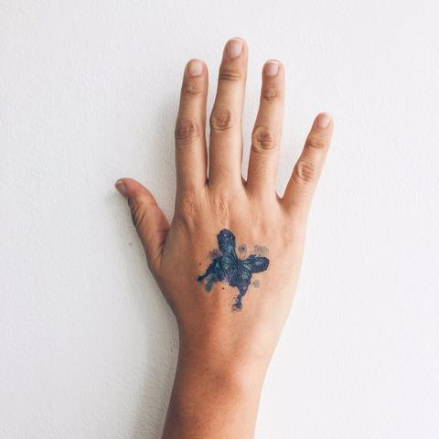 Watercolour Butterfly Temporary Tattoo