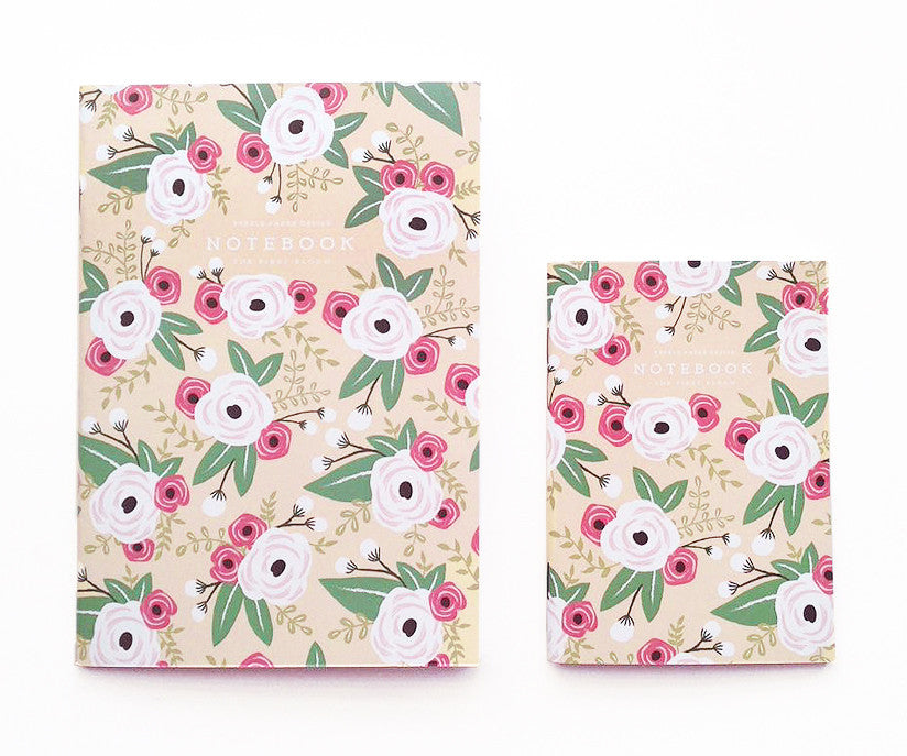 White Floral Notebook