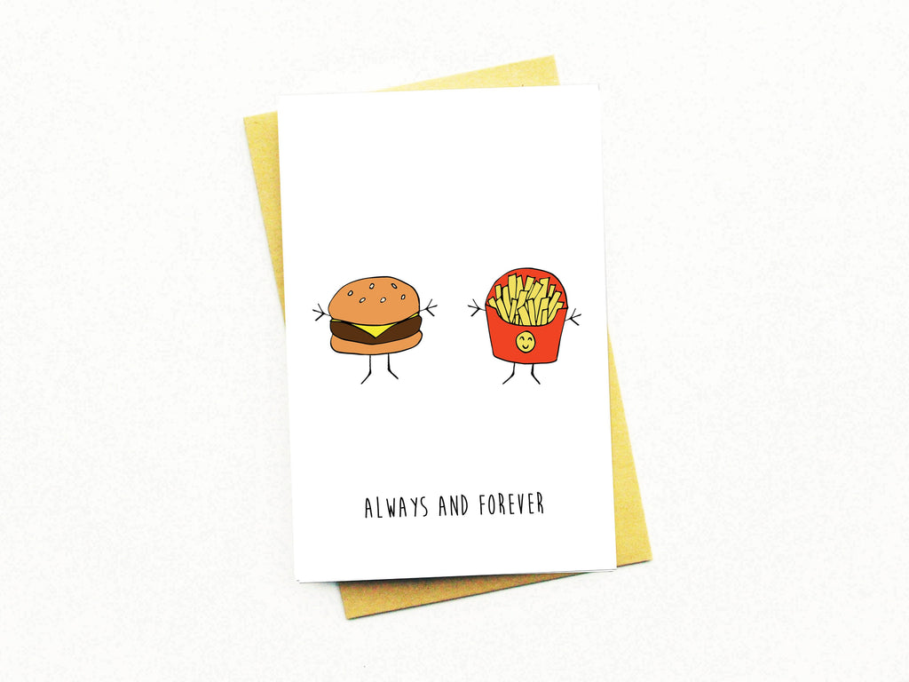 Always and Forever, Burger and Fries Greeting Card