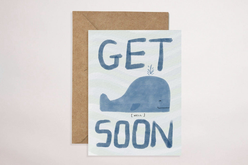 Get Well Soon (Whale) Greeting Card