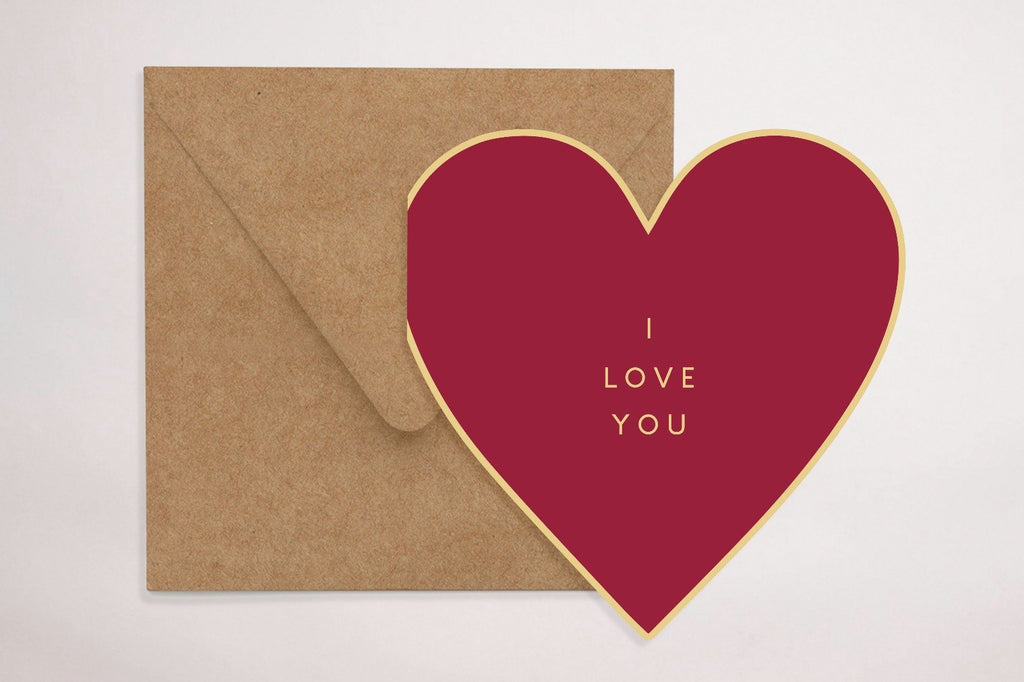 Red Loveheart Greeting Card