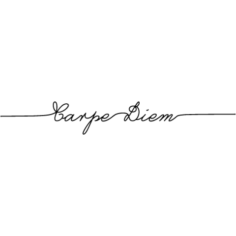 Carpe Diem Temporary Tattoo