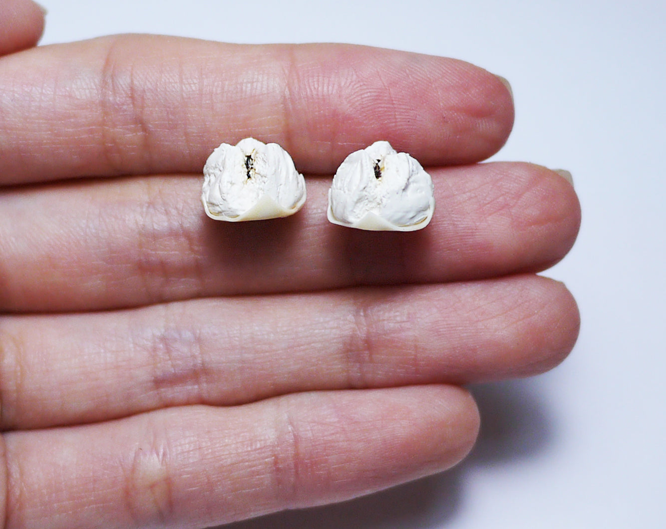 Char siu pao stud earrings