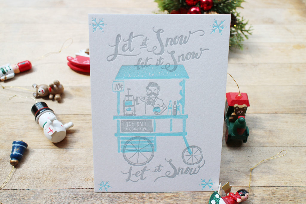 Christmas Snow Card
