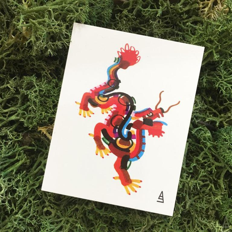 Mini Dragon Colour Bash Temporary Tattoo