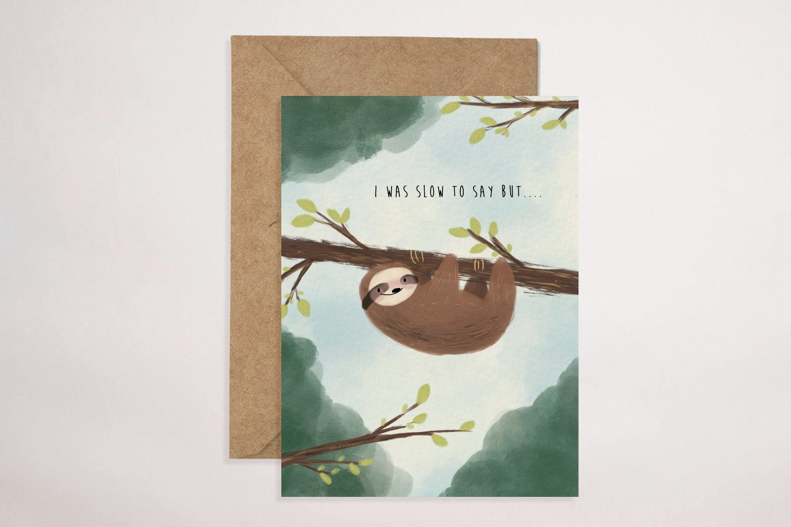 Sloth Greeting Card