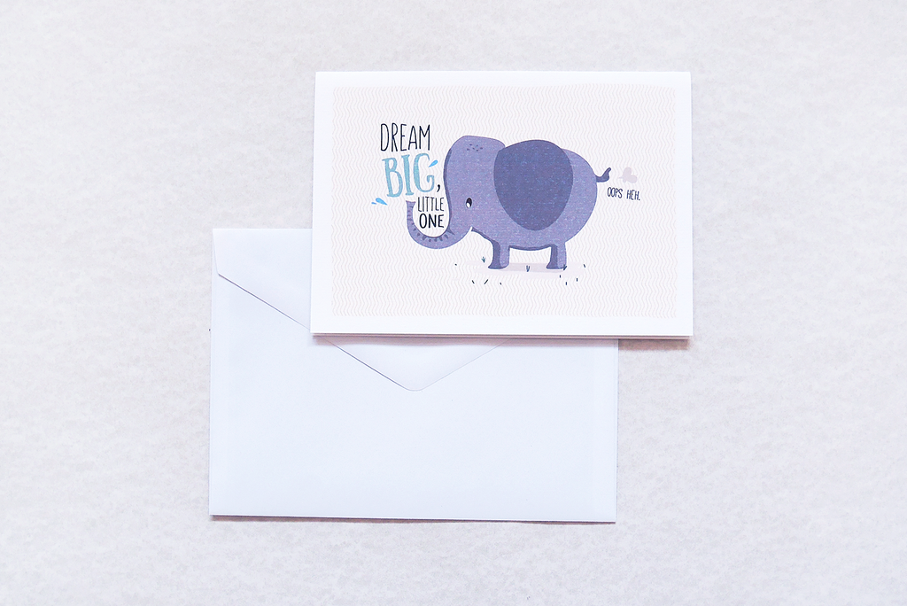 Dream Big Little Elephant Card