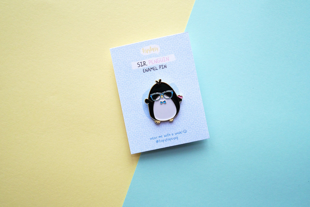 Sir. Penguin Enamel Pin