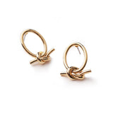 Eva knotted gold earrings