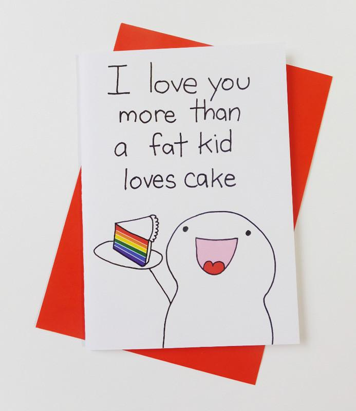 Fat Kid - Fat Kid Loves Cake Card