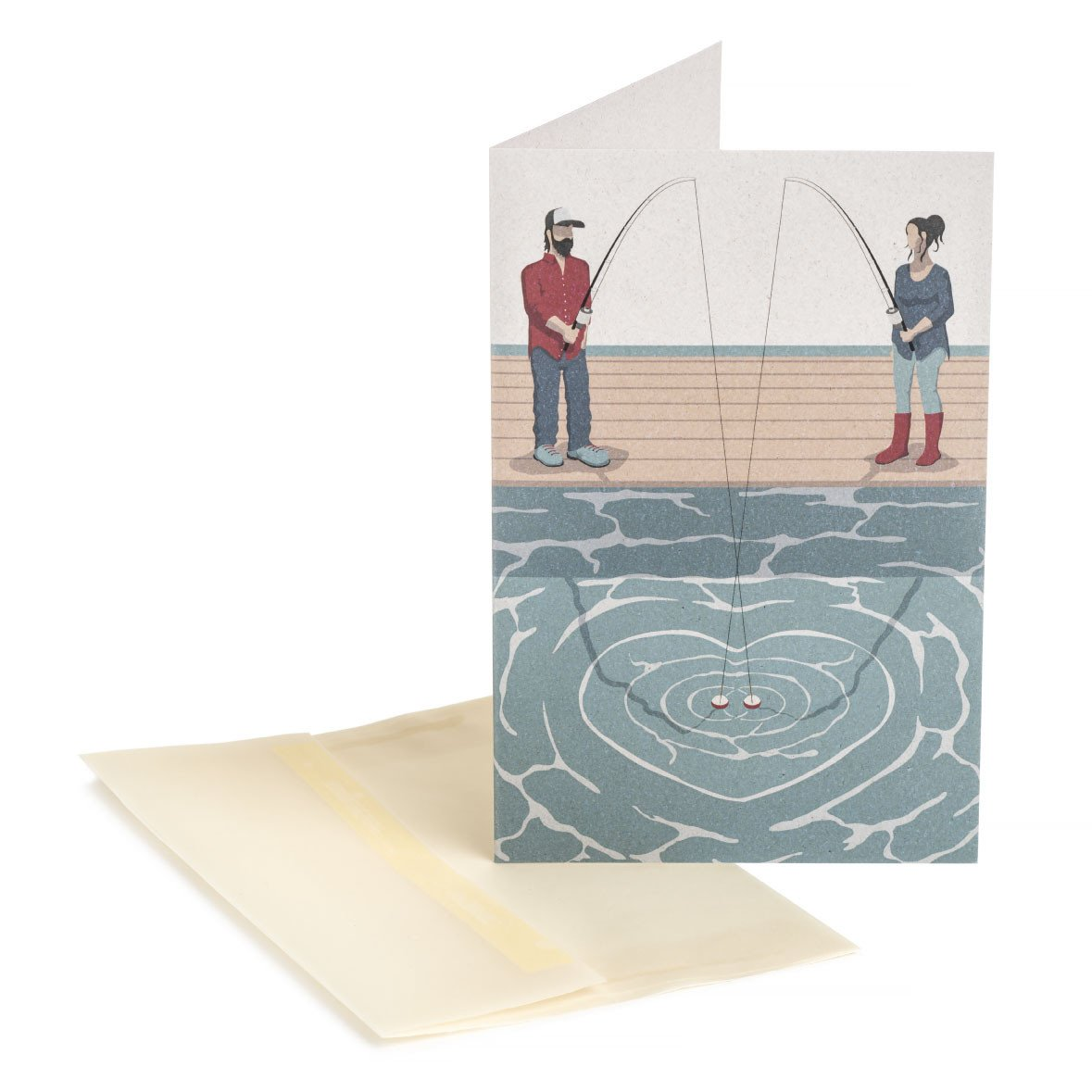 Fishing Couple Greeting Card