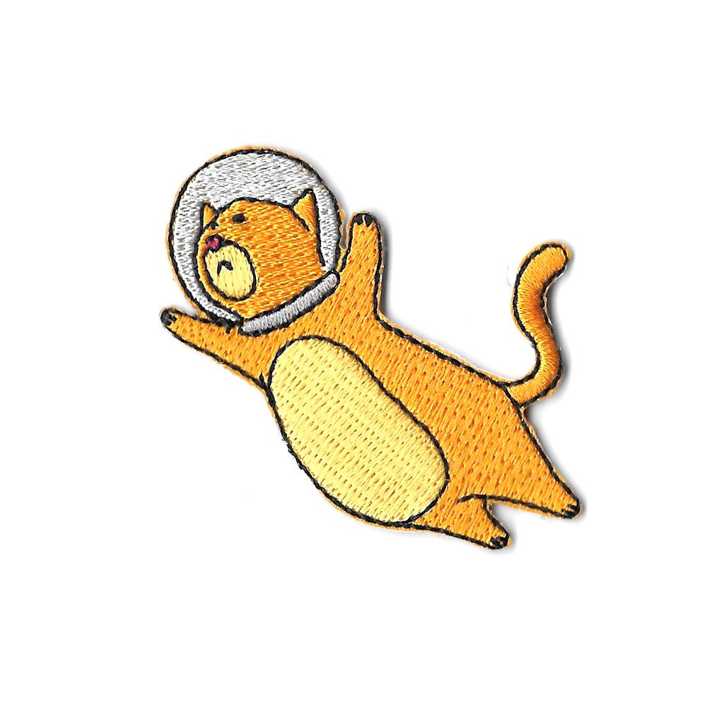 Space Cat Iron On Patch