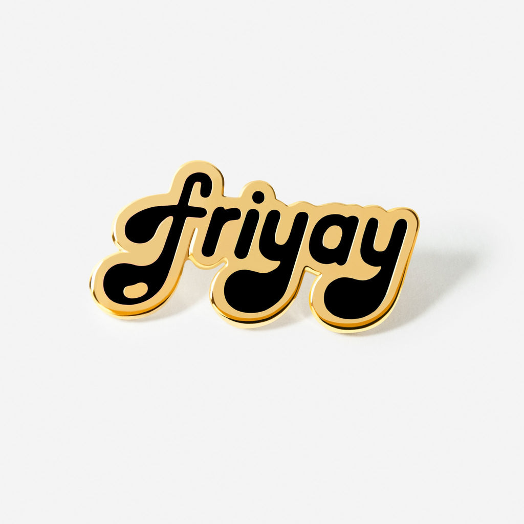 Black Friyay Hat/Lapel Pin