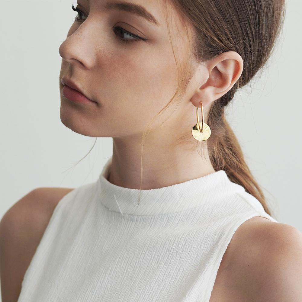 Gale 2 in 1 Gold Earrings