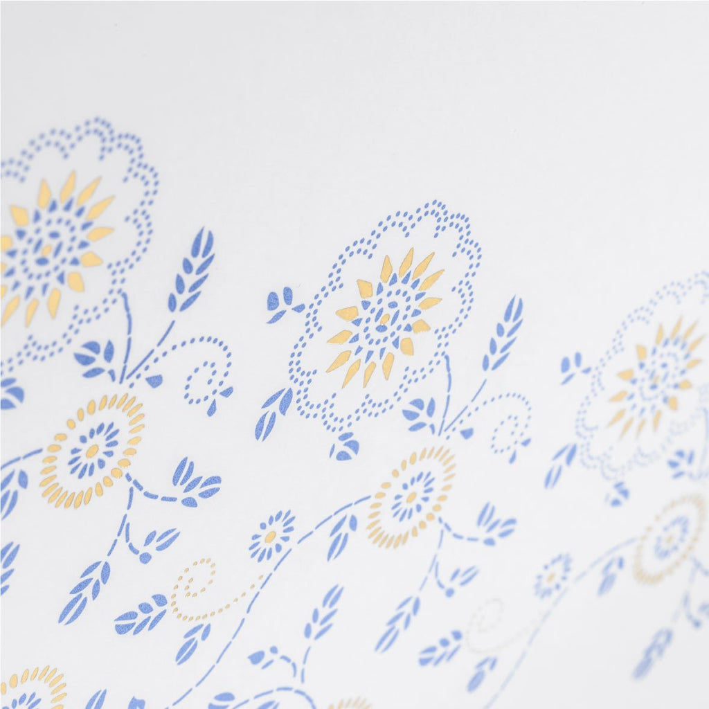Gold and blue Greeting Card