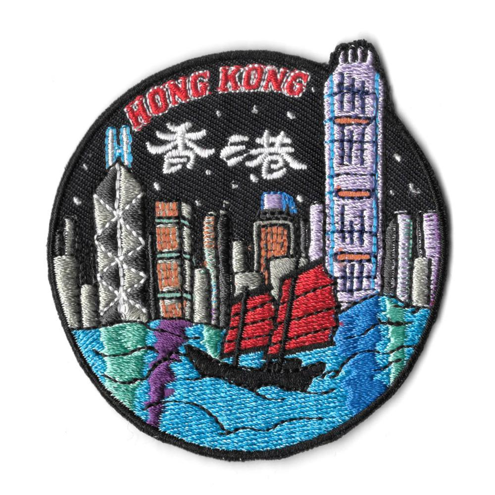 Hong Kong City Iron On Patch