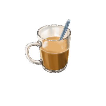 Hot Coffee With Milk Acrylic Magnet