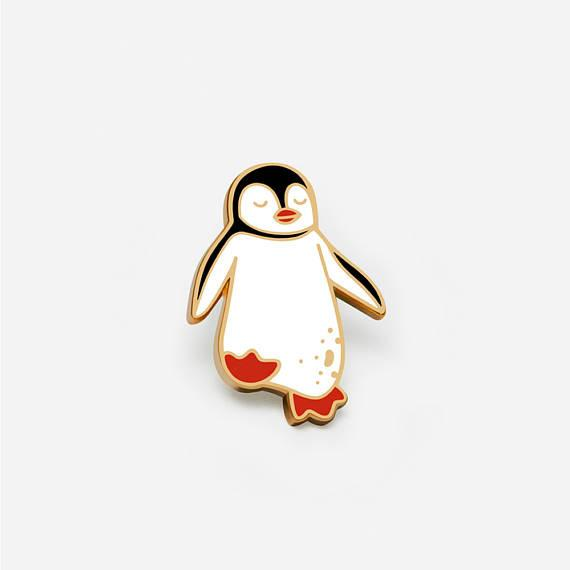 Floating Penguin Pin