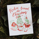Christmas Rock Letterpress Card
