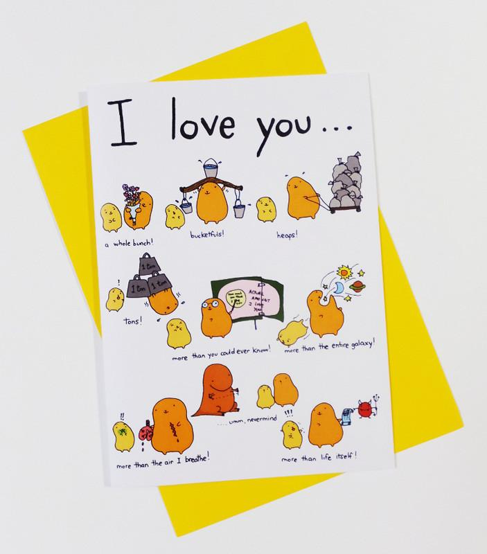 Sillies - I Love You (Sillies 1) Card