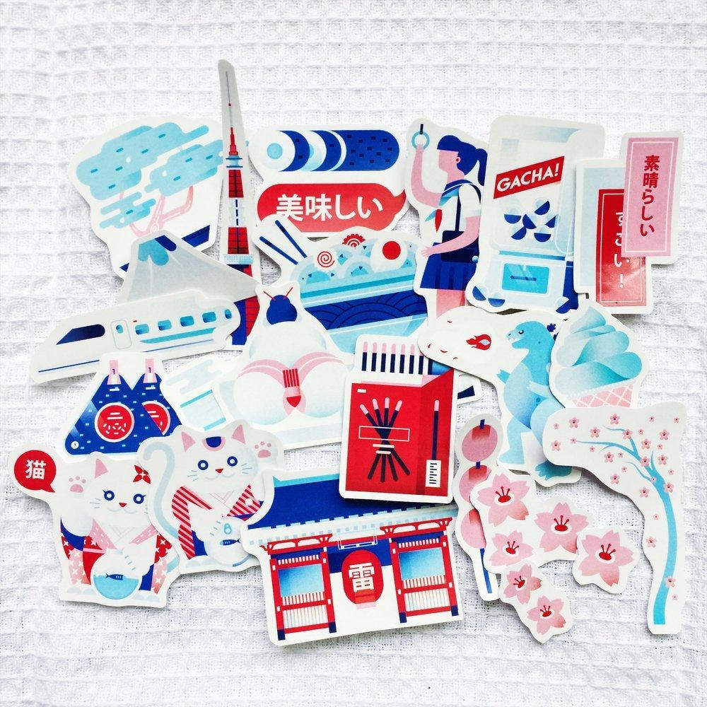 Japanese Sticker Pack