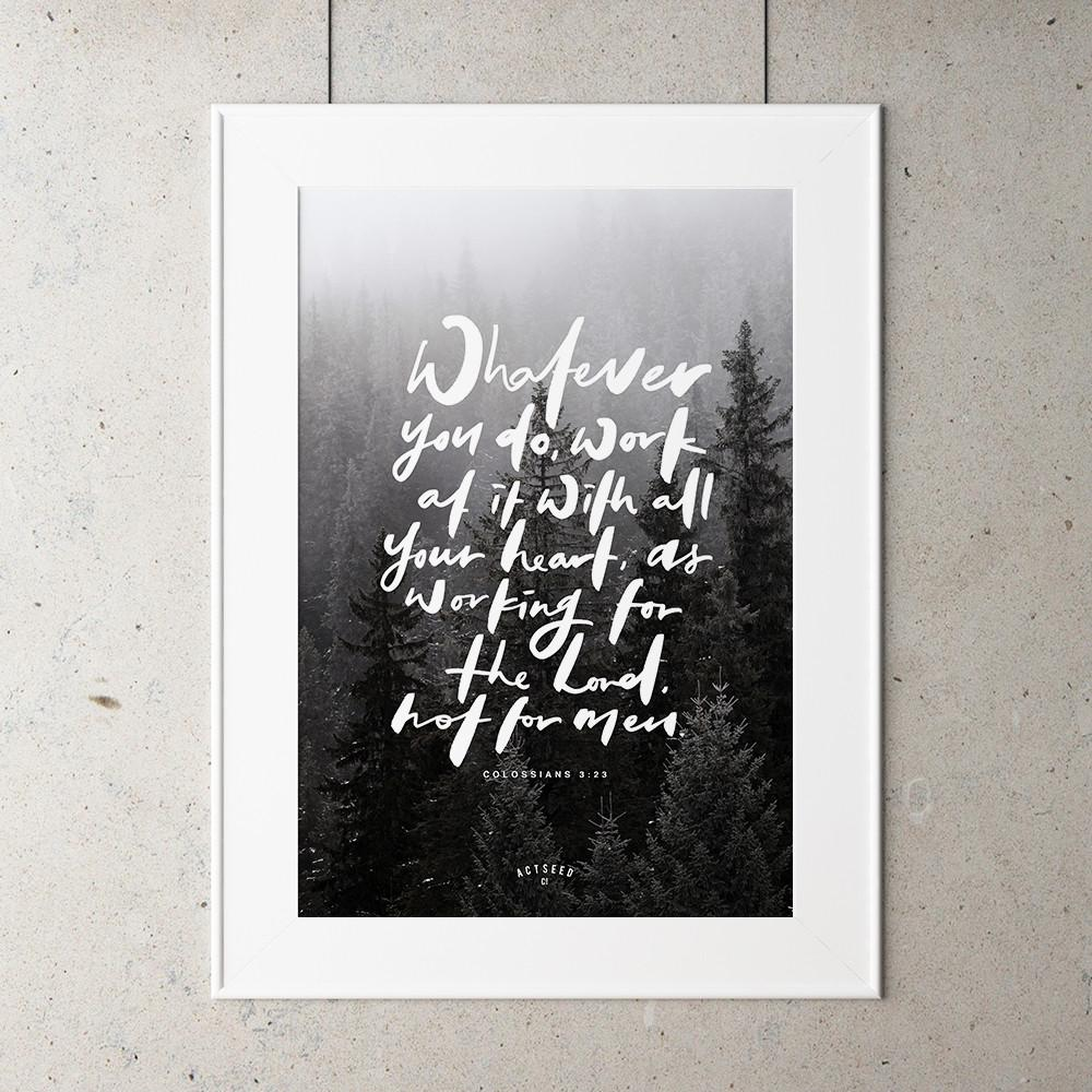 Whatever you do A4 print