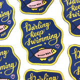 'Darling, Keep Swimming' Iron On Patch