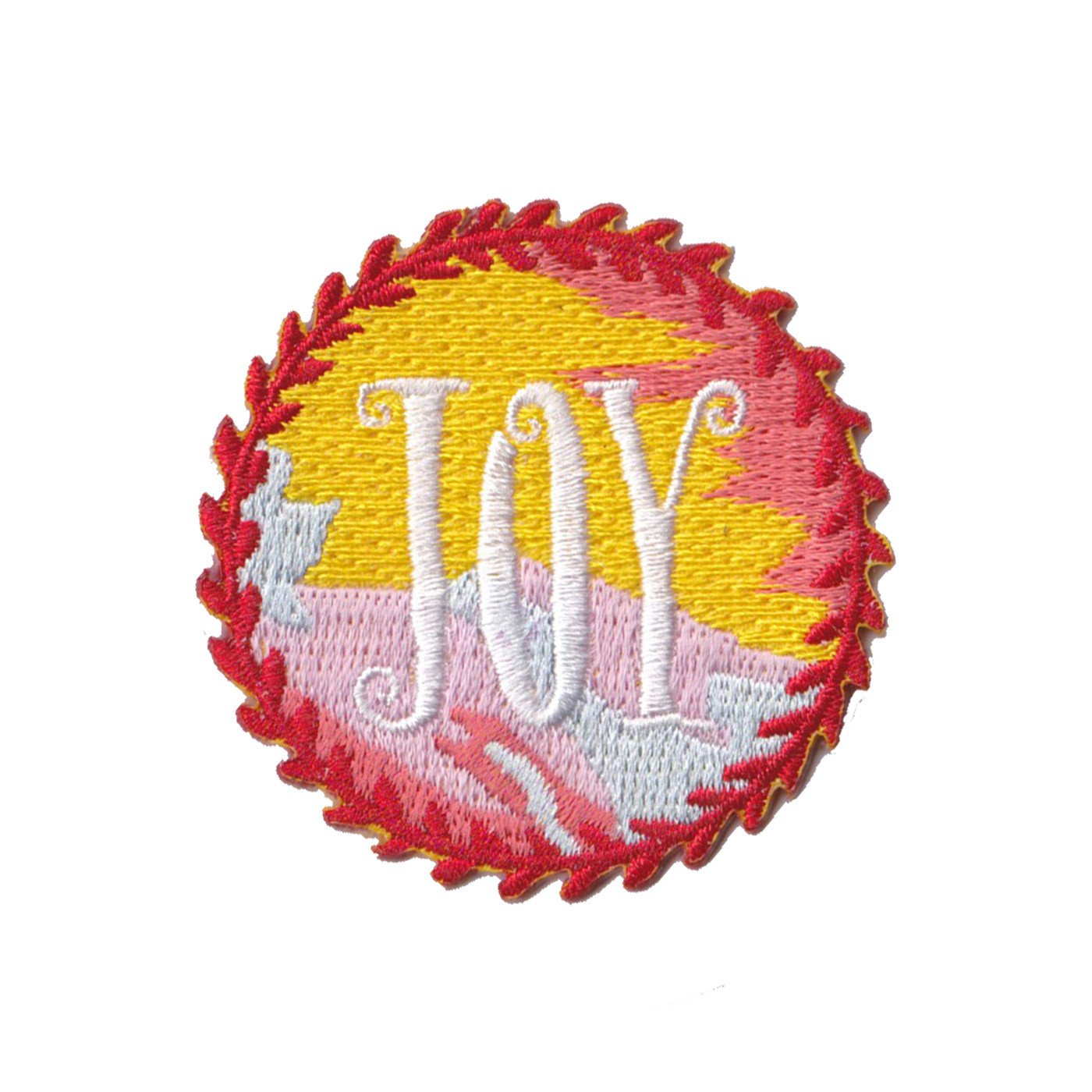 Joy Iron On Patch
