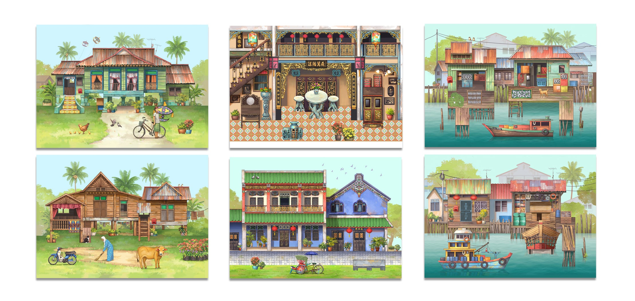 Pop Up Postcards: 3 Scenery Set