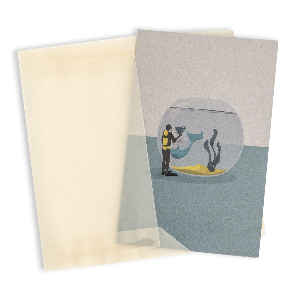 Love in a fishbowl Greeting Card