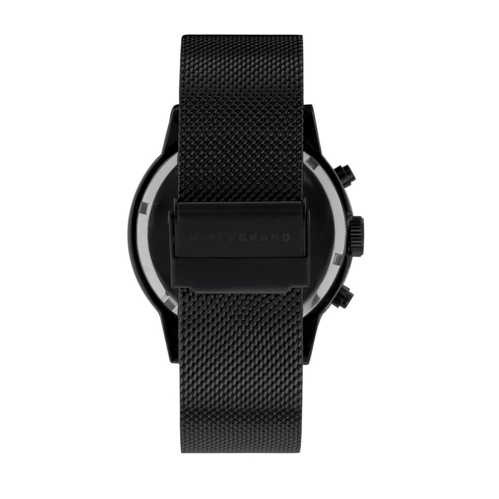 Maverick 44 Watch - Chrono Blackout w/ Black Mesh Band