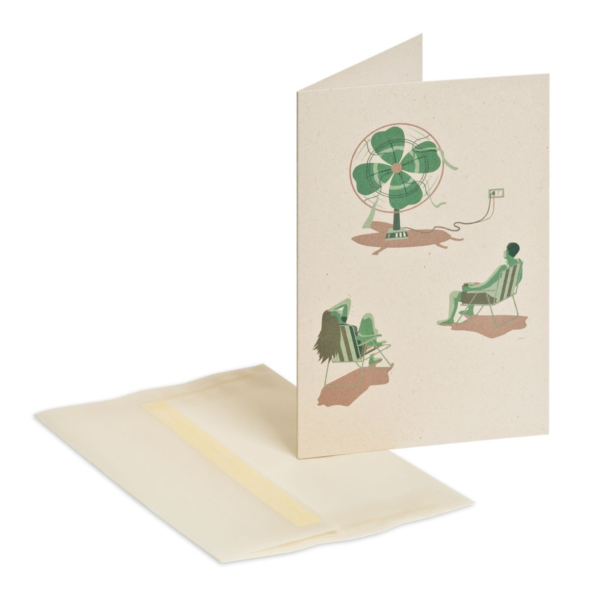 May luck be with you Greeting Card