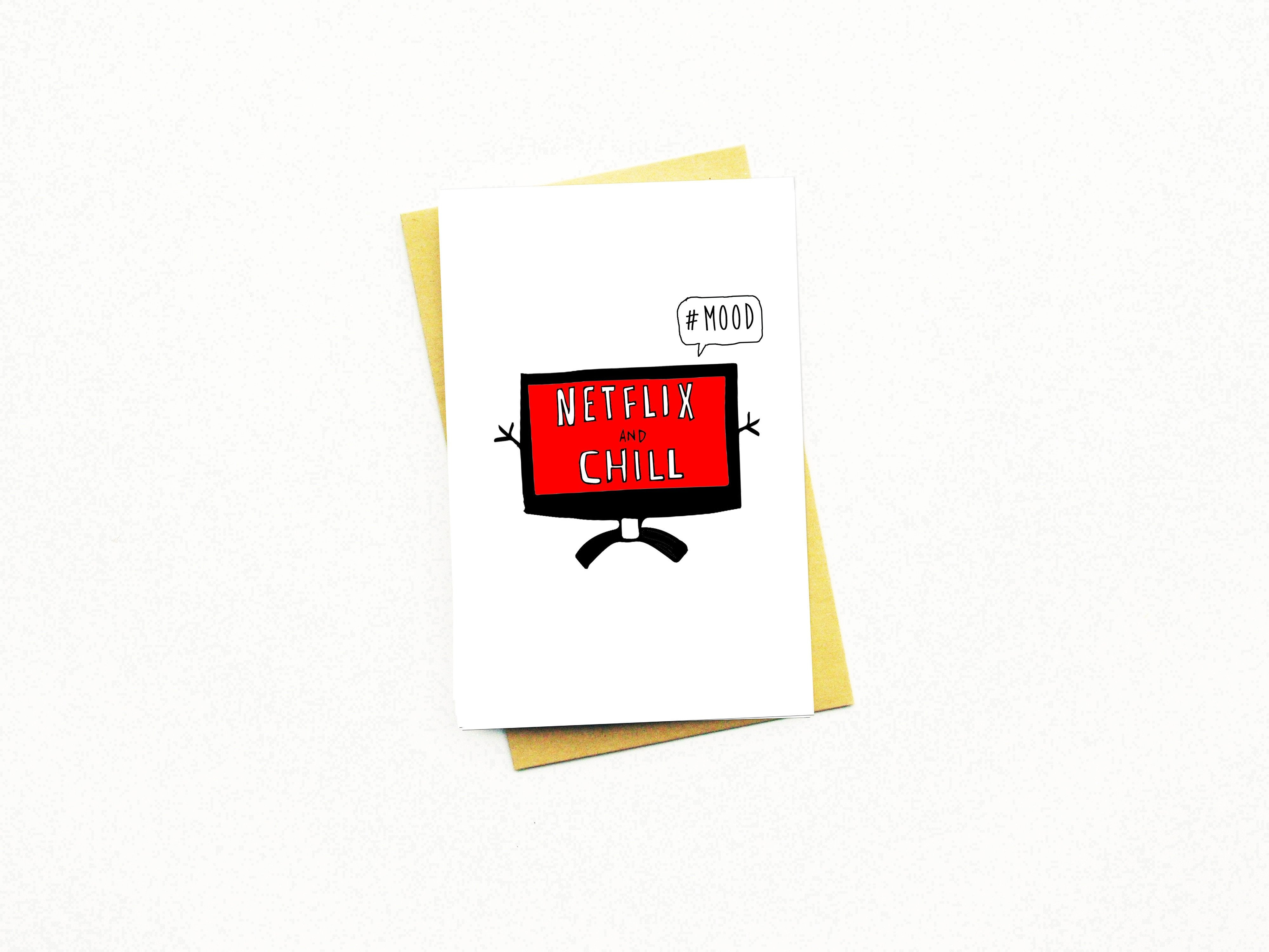 Netflix and Chill Mood Greeting Card