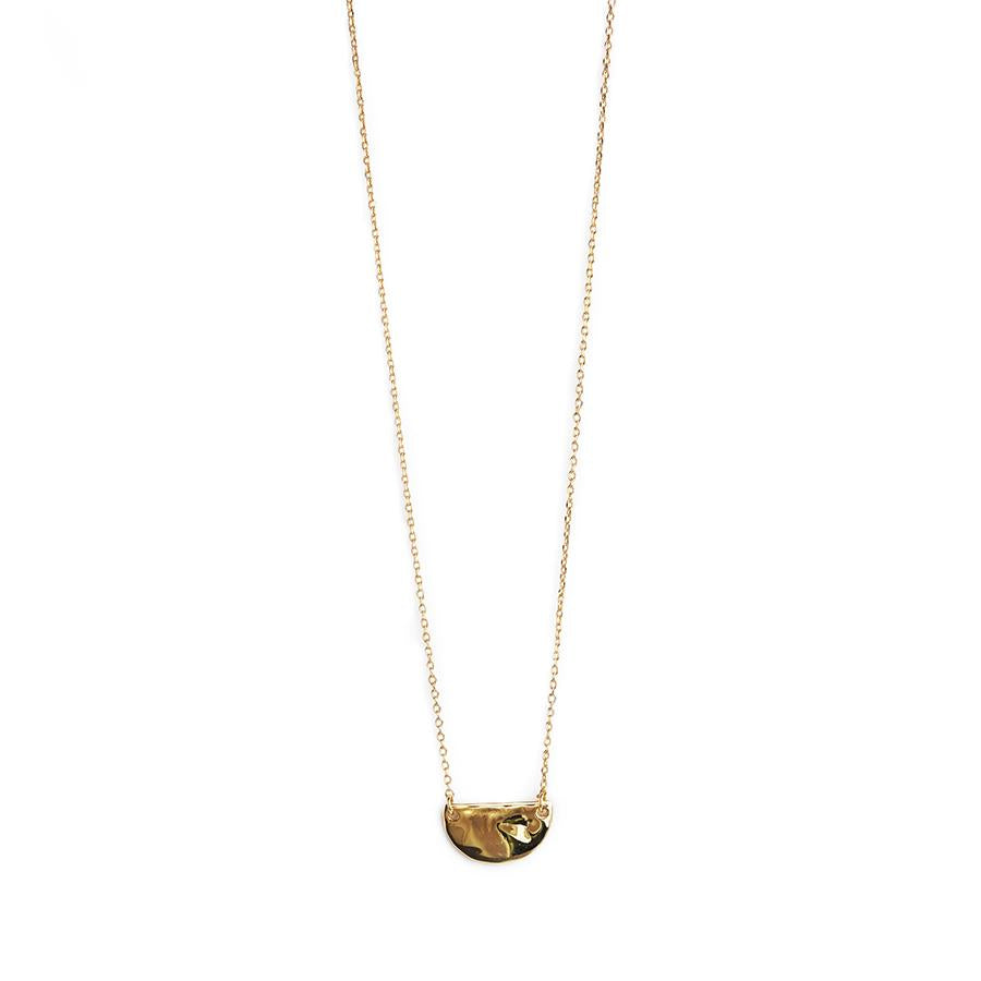 Nada semi circle gold necklace
