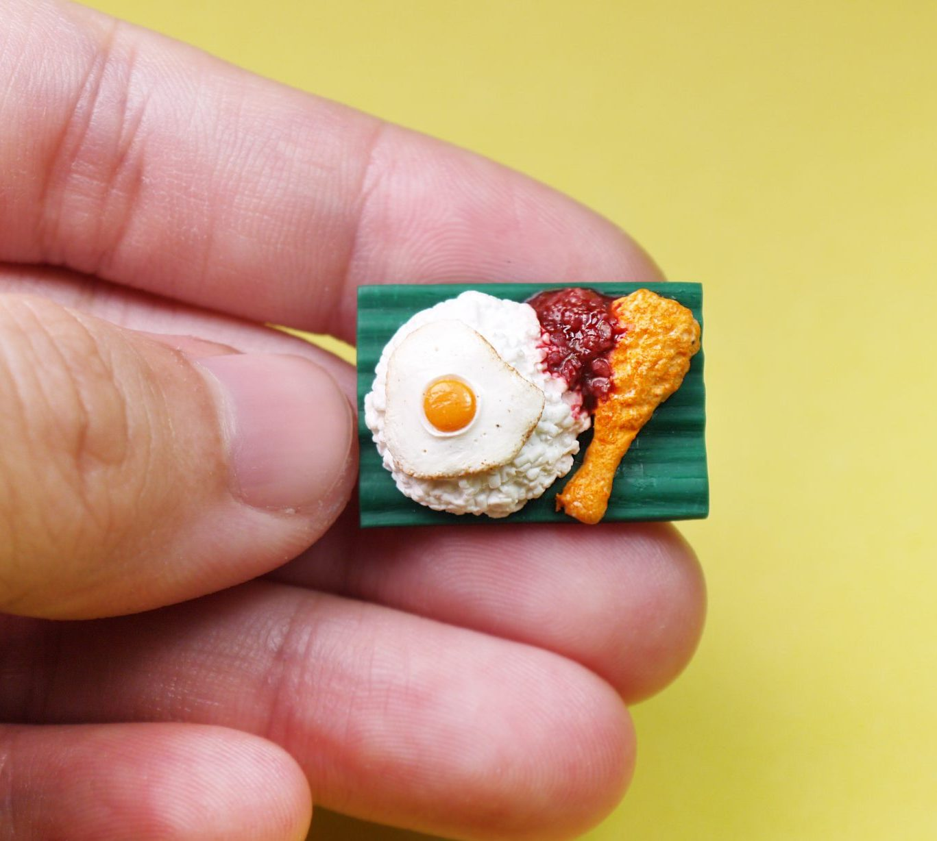 Nasi Lemak Brooch Pin